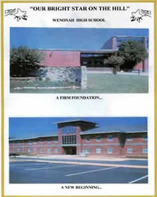 Wenonah High School ~ Then and Now
